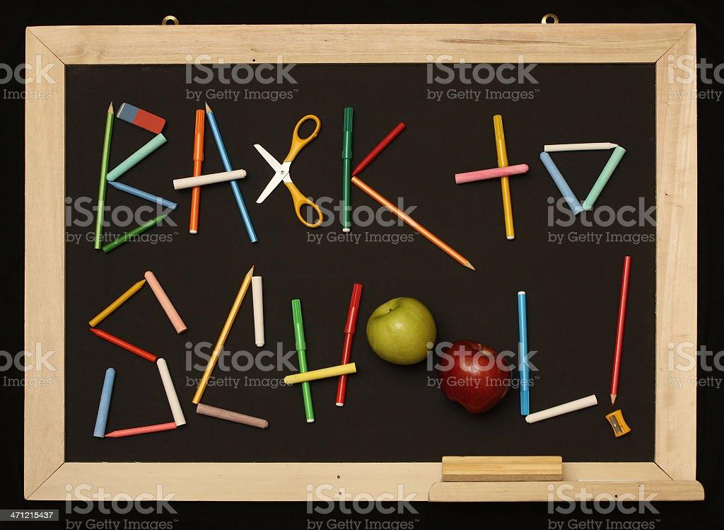 Back to School Blackboard stock photo