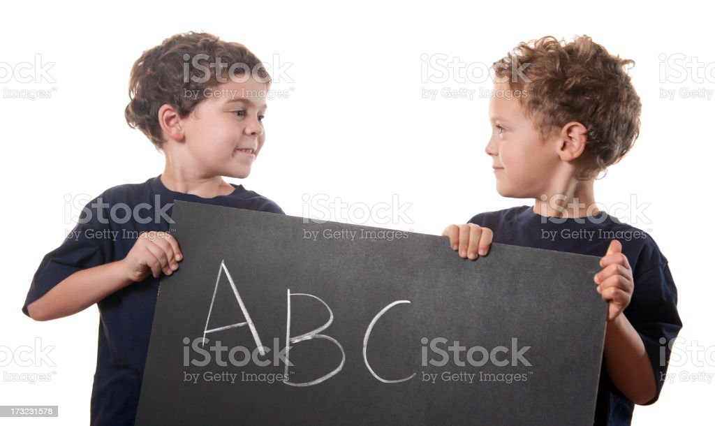 Back to School Boys royalty-free stock photo