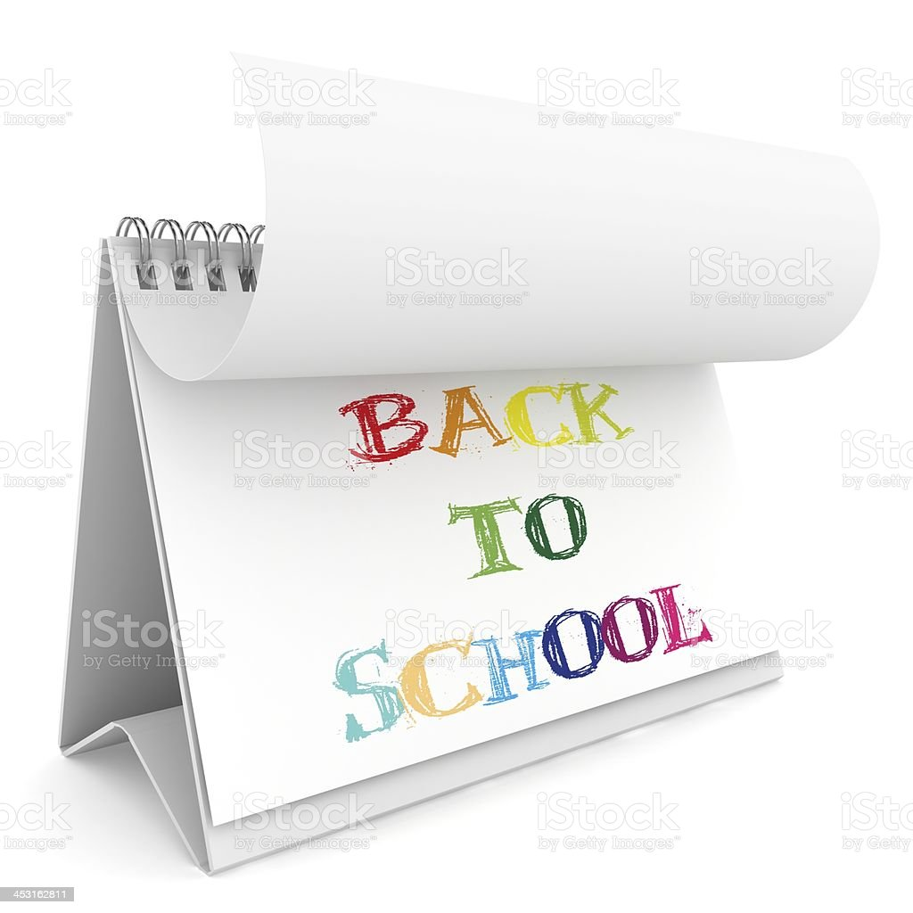 Back to School Calendar royalty-free stock photo