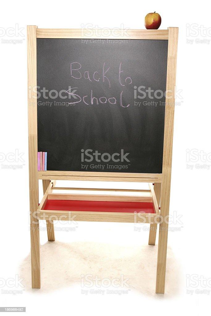 back to school chalk board royalty-free stock photo