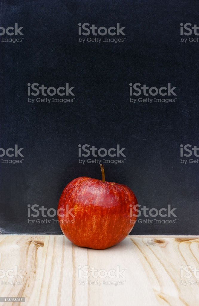 Back to school college apple chalkboard copy-space stock photo