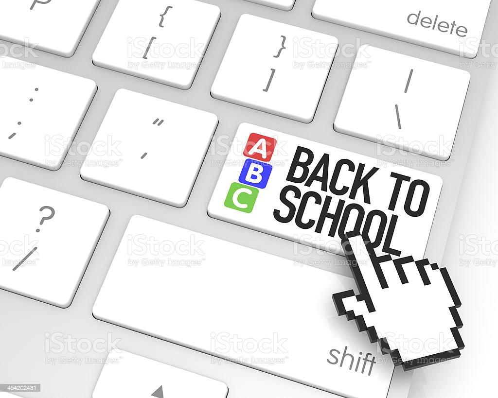 Back to school Enter Key royalty-free stock photo