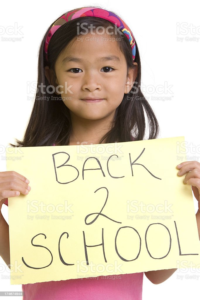 Back To School Girl royalty-free stock photo