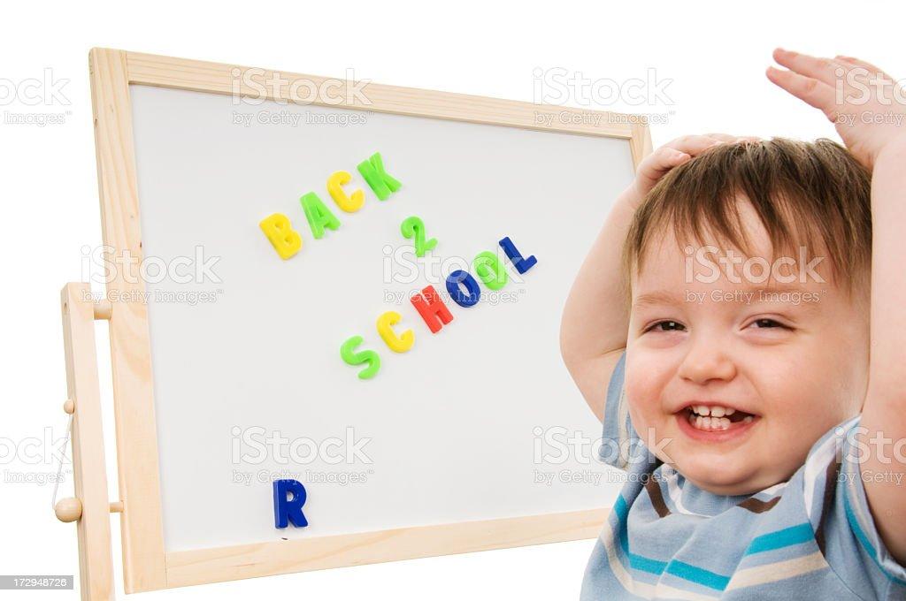 Back to school - happy royalty-free stock photo