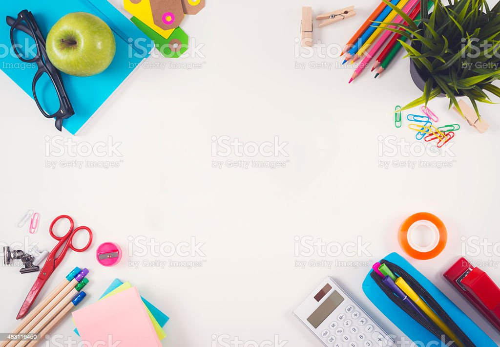 Back to school header stock photo