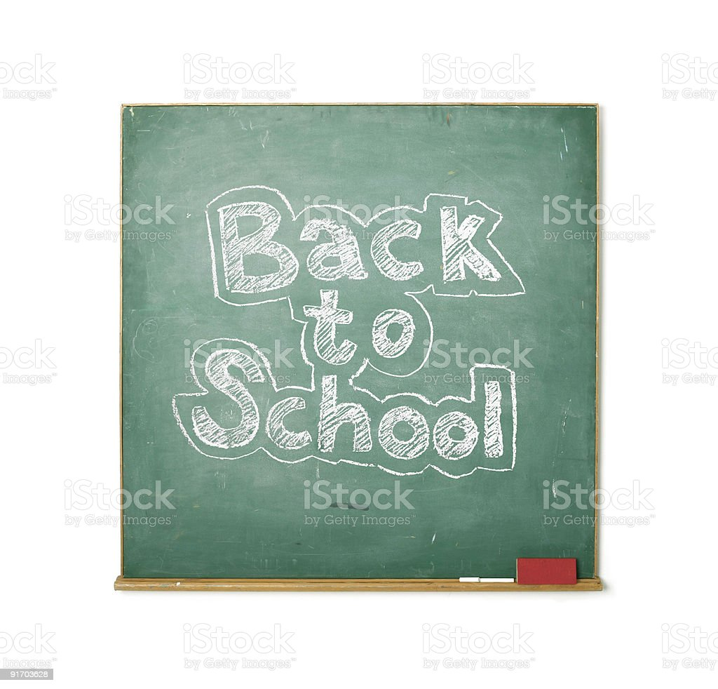 Back to school isolated royalty-free stock photo