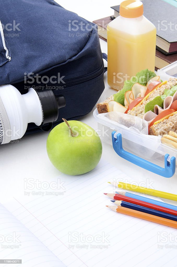 Back to school lunch royalty-free stock photo