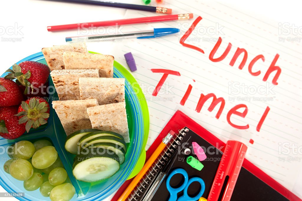 Back to School Lunch stock photo