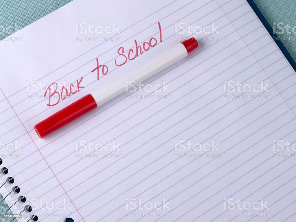 Back to School Notepad stock photo