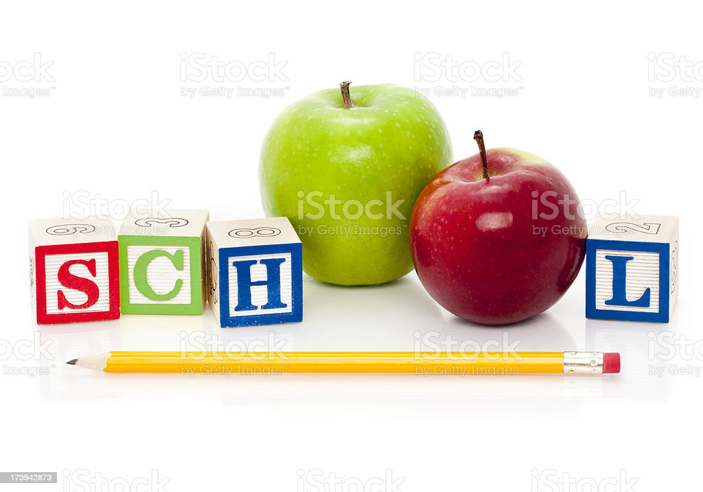 Back to School (Isolated; XXXL) royalty-free stock photo