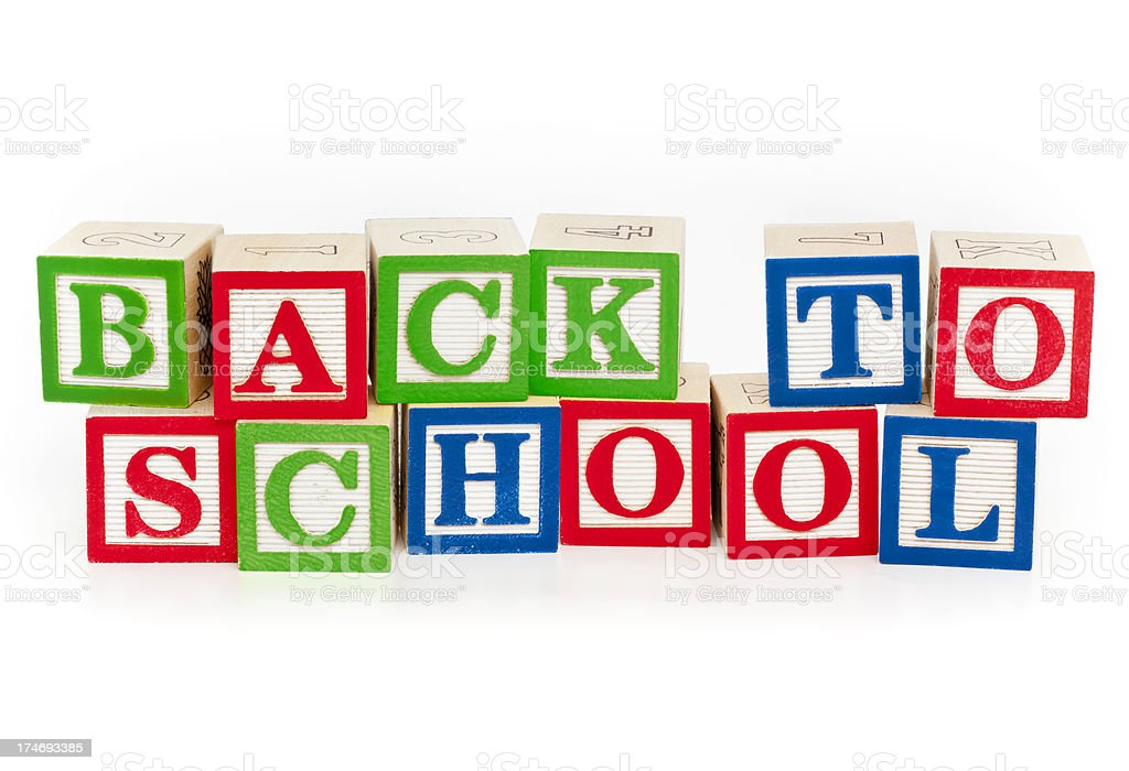 Back to School (Isolated; XXXL) royalty-free stock photo