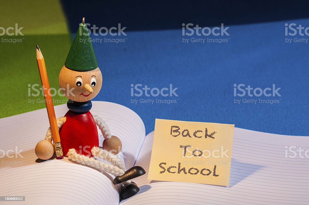 Back to school - Pinocchio stock photo