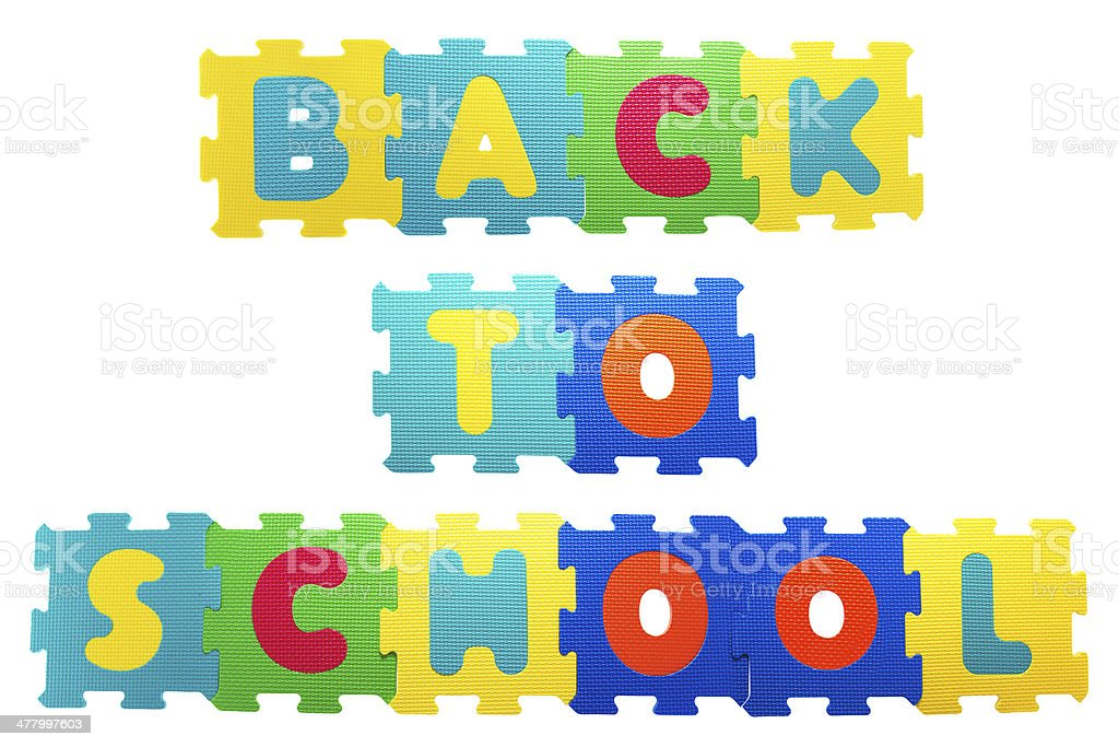 Back to school plastic mosaic. royalty-free stock photo