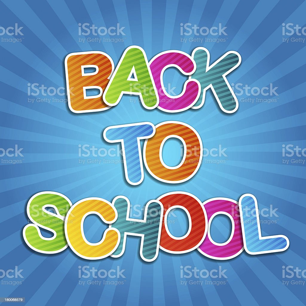 Back To School Poster royalty-free stock photo