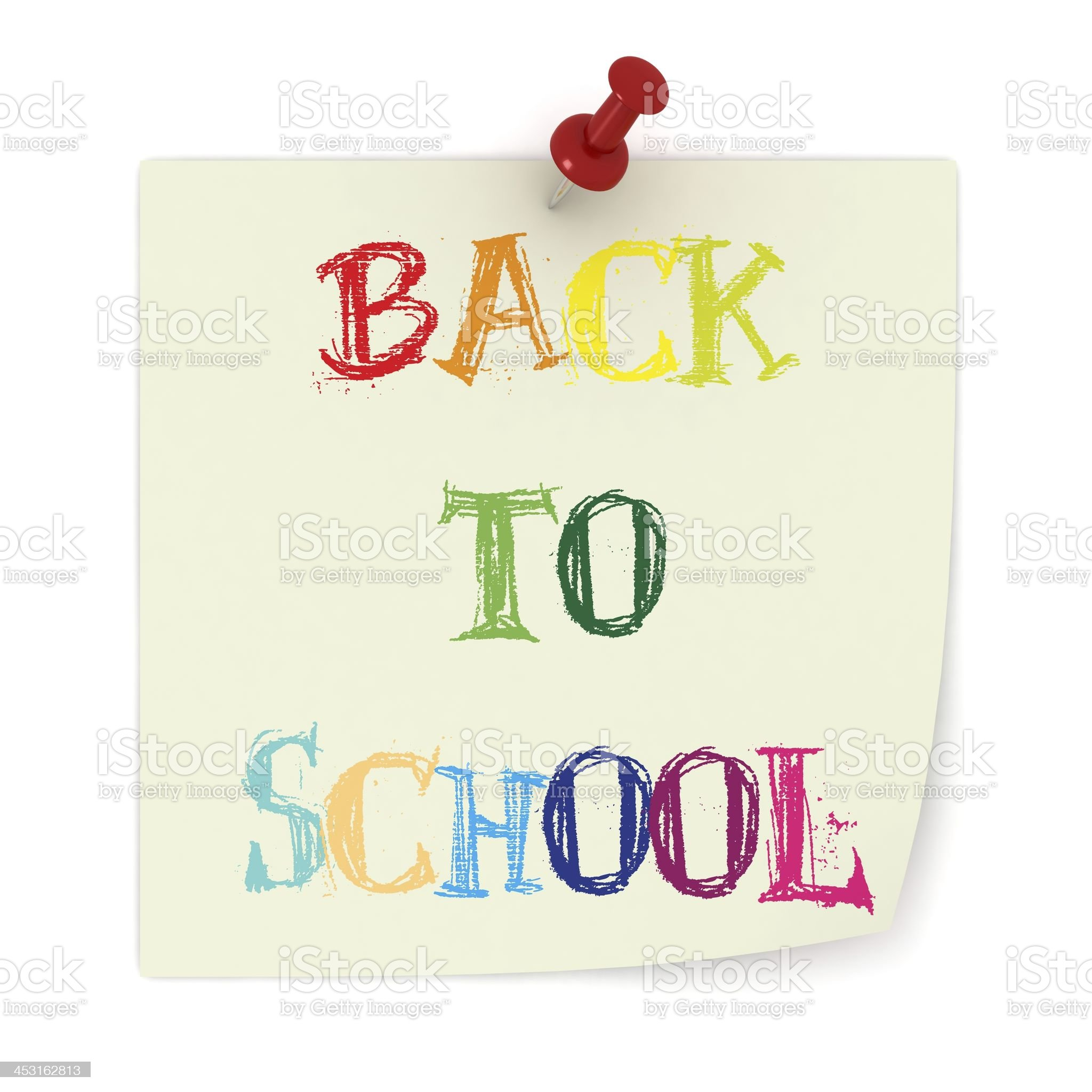 Back to School Reminder royalty-free stock photo