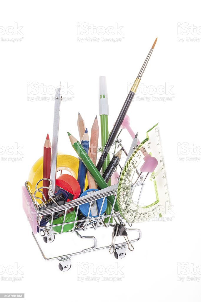 back to school shopping royalty-free stock photo