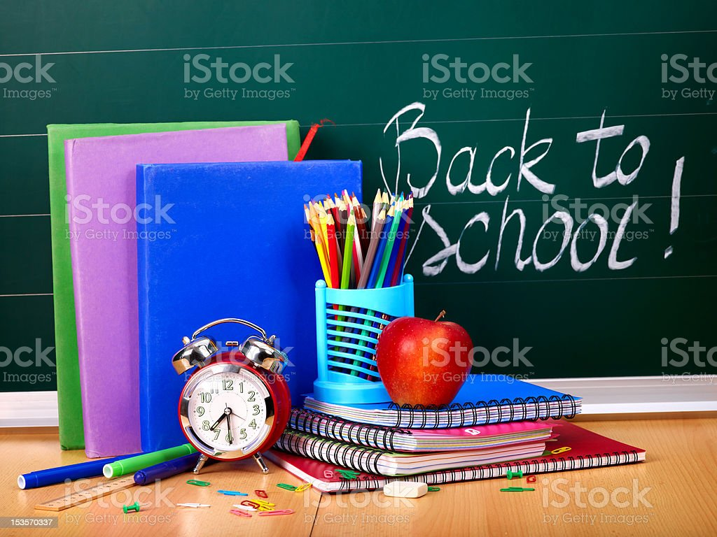 Back to school supplies. royalty-free stock photo