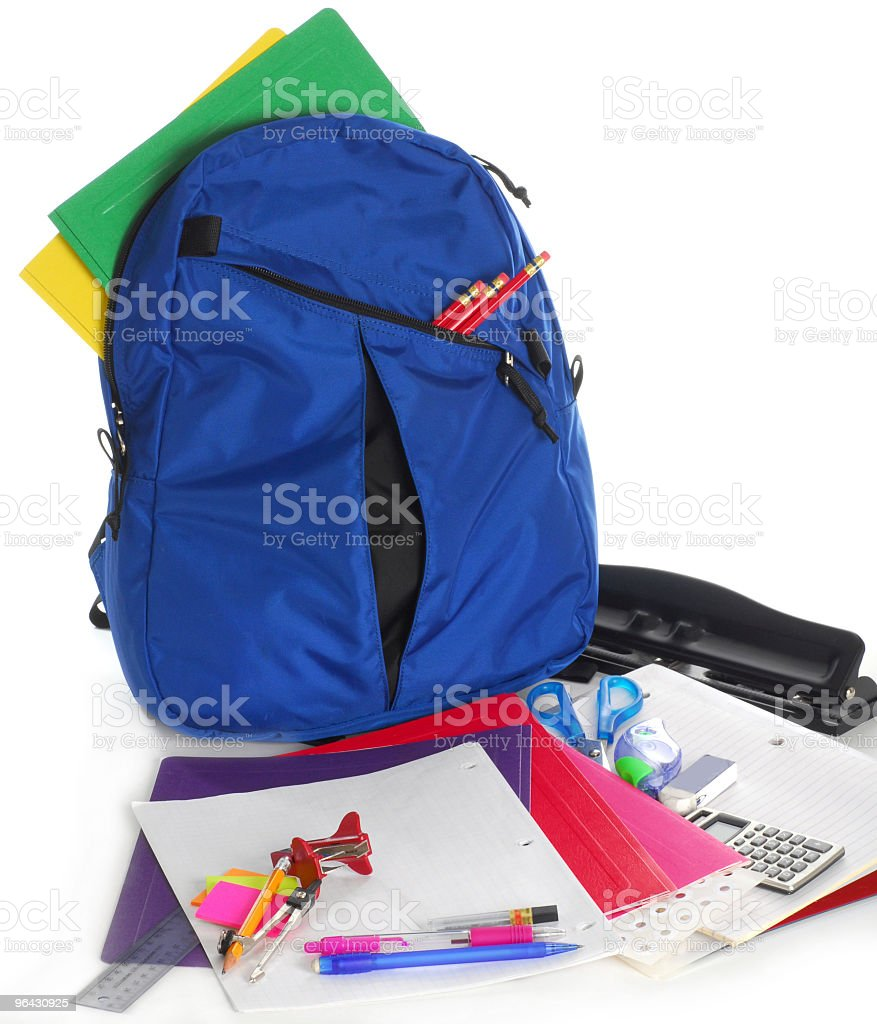 Back to school supplies royalty-free stock photo