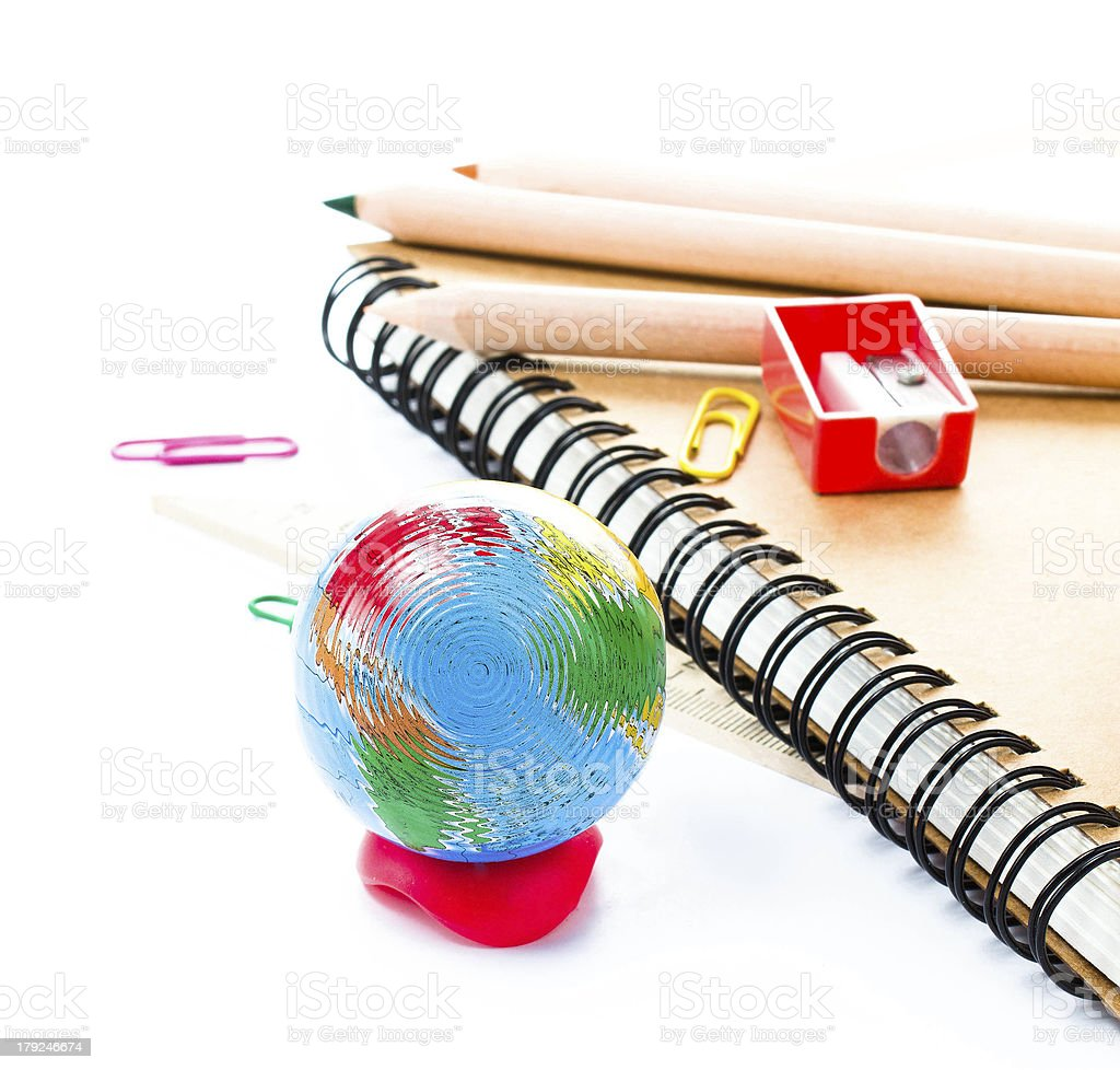 Back to school supplies with accessories. royalty-free stock photo