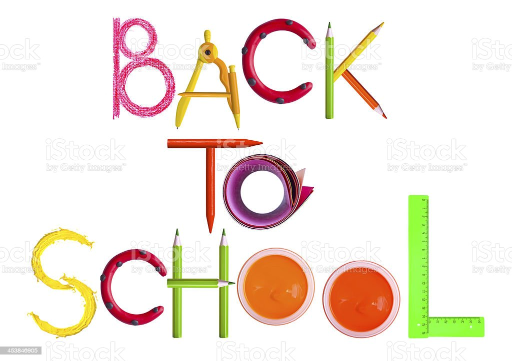 Back to school text royalty-free stock photo