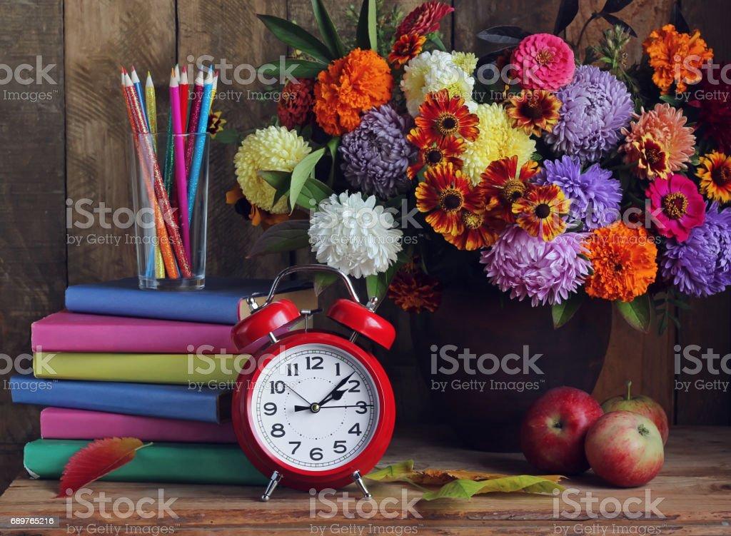 Back to school. The teacher's day.  September 1. stock photo