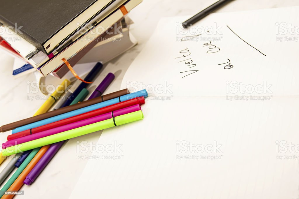 Back to school 'Vuelta al Cole'. royalty-free stock photo