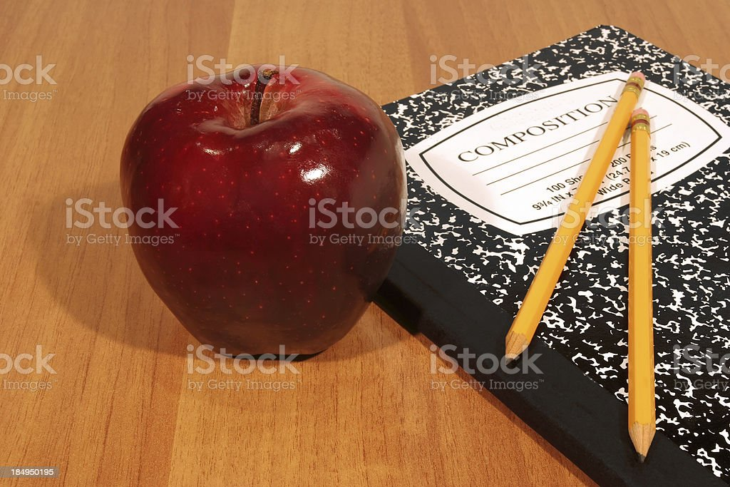 Back To School with Clipping Path royalty-free stock photo
