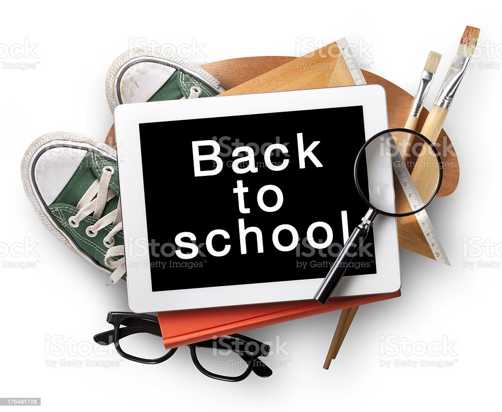 Back to school with digital tablet royalty-free stock photo