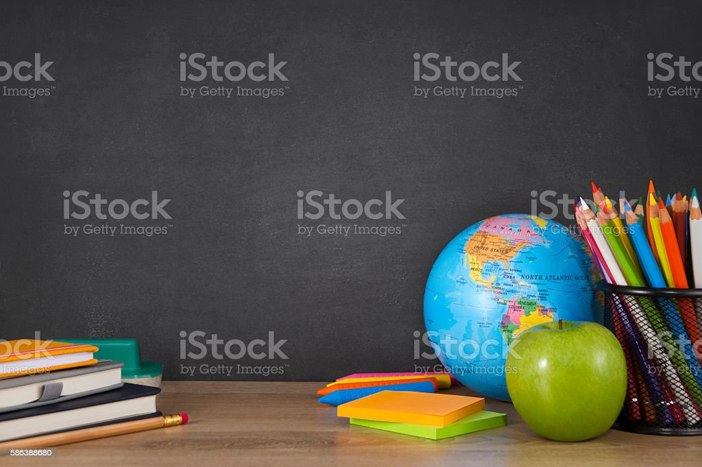 Back to School with School Supplies stock photo