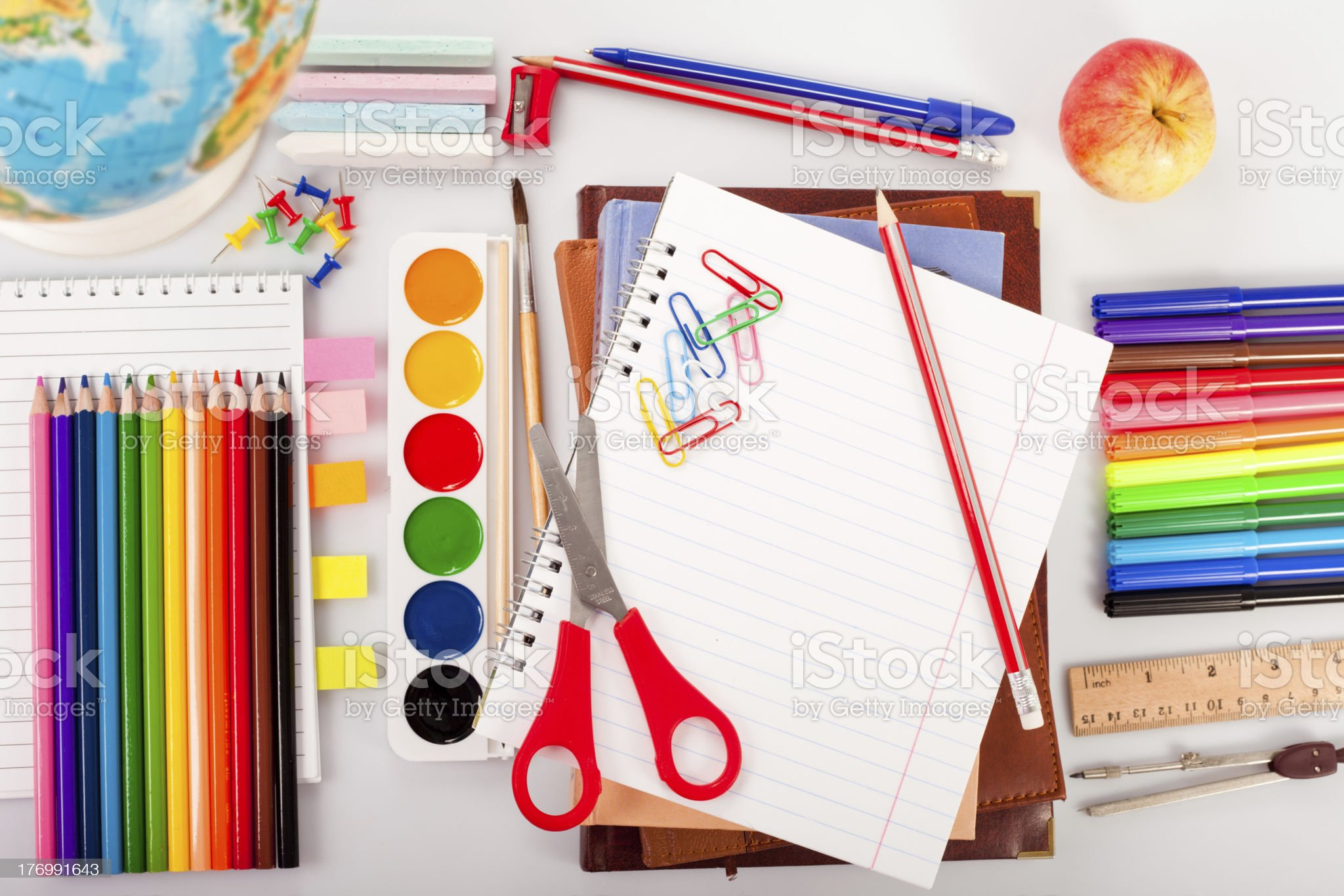 Back to shcool painting royalty-free stock photo