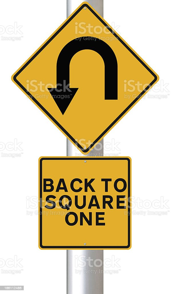 Back to Square One stock photo