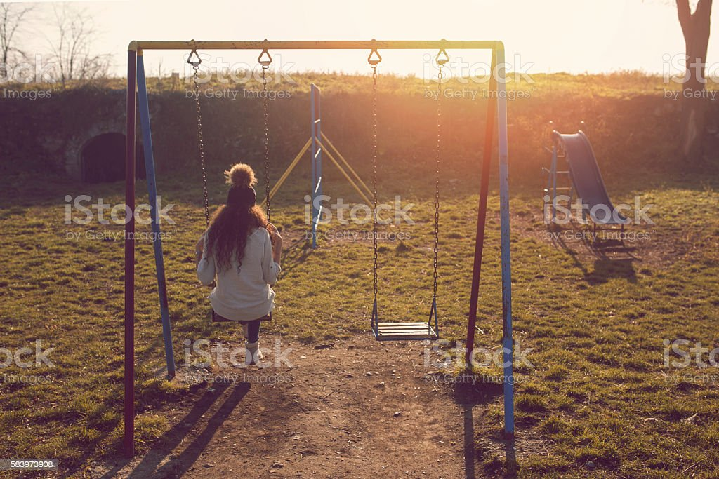 Back to the childhood stock photo
