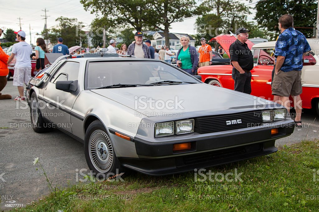 Back to the Future Inspired DeLorean stock photo