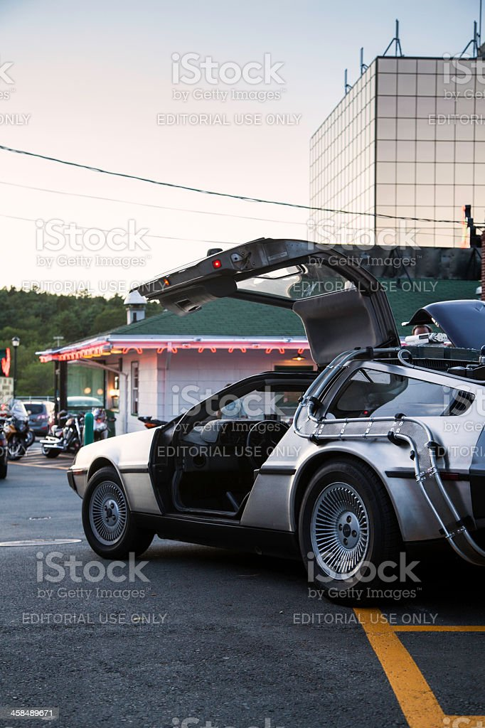 Back to the Future Inspired DeLorean royalty-free stock photo