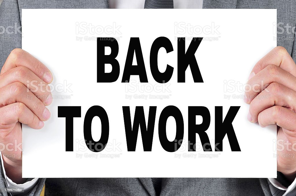 back to work royalty-free stock photo