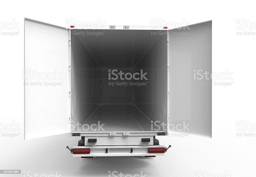 Back truck stock photo