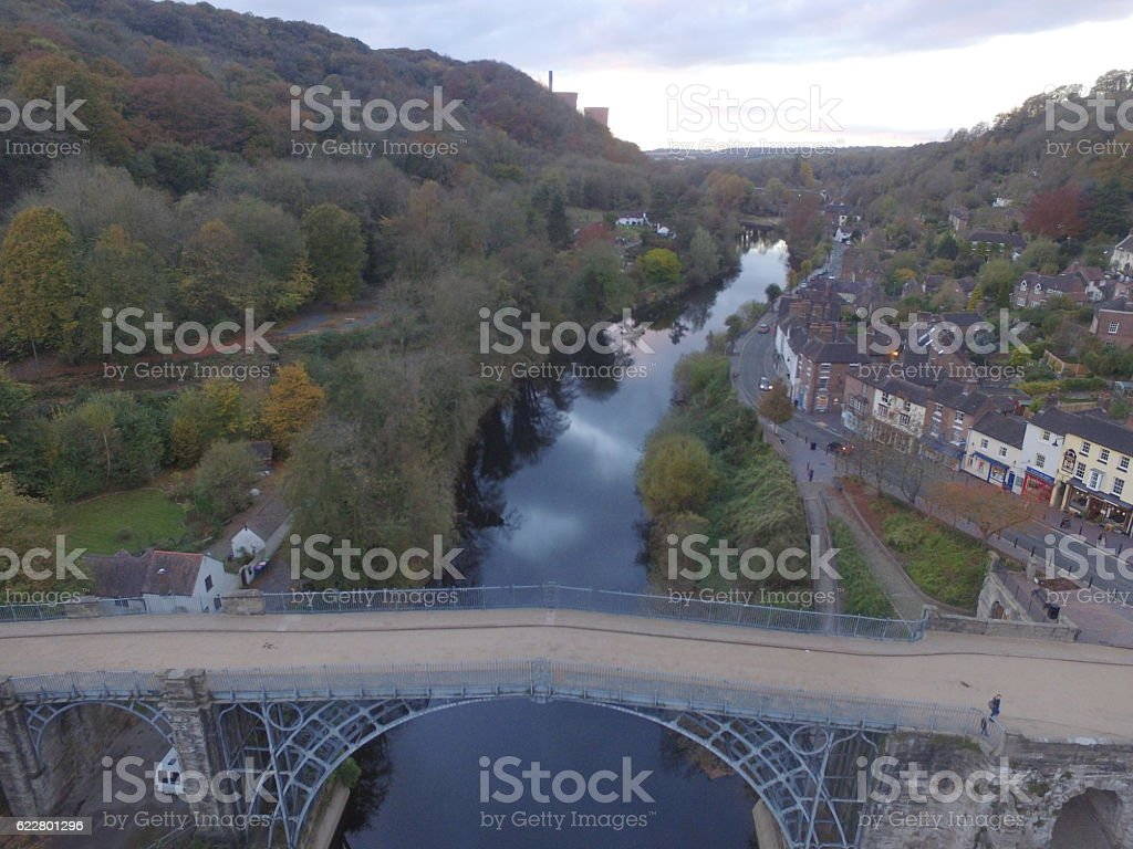 back Up River 19 Aerial stock photo