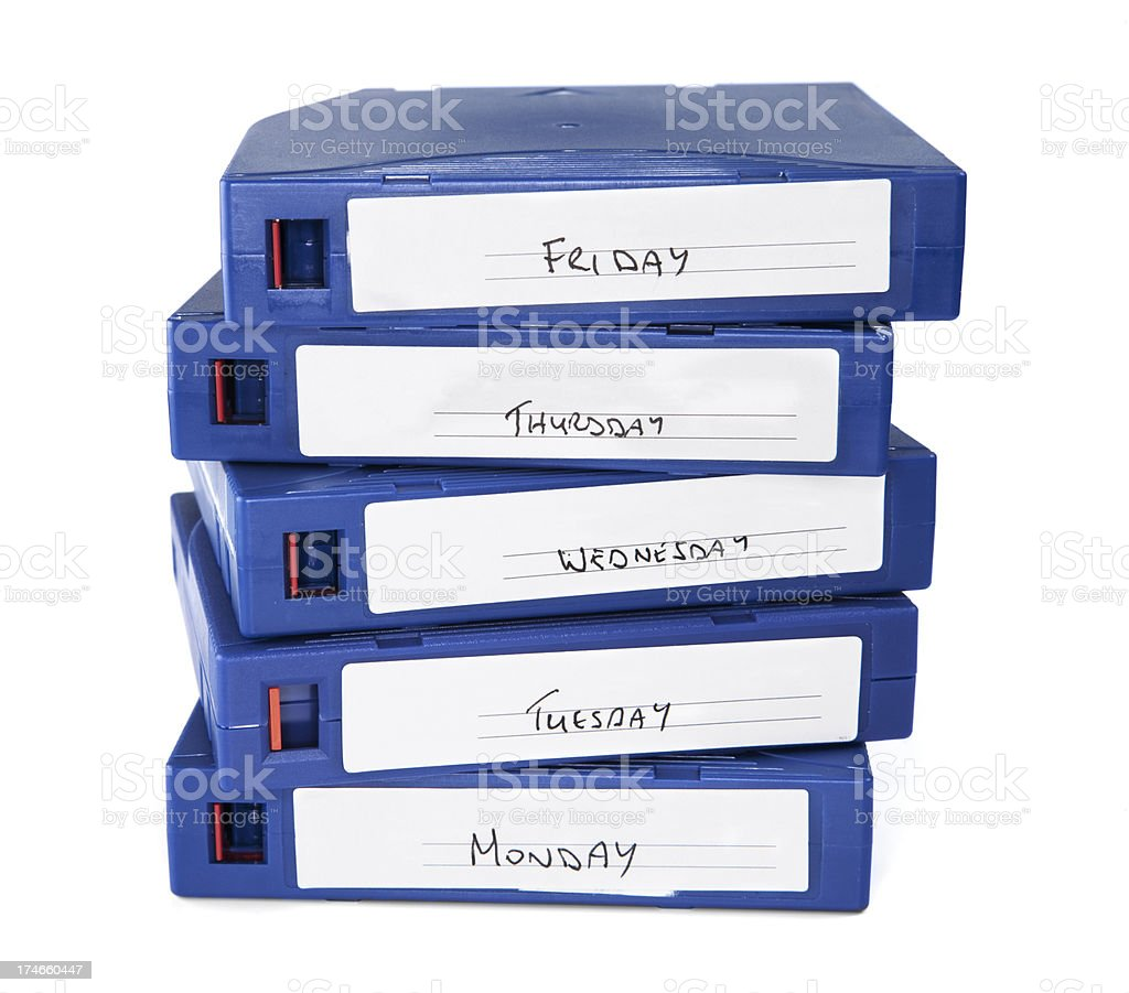 Back up tapes stock photo