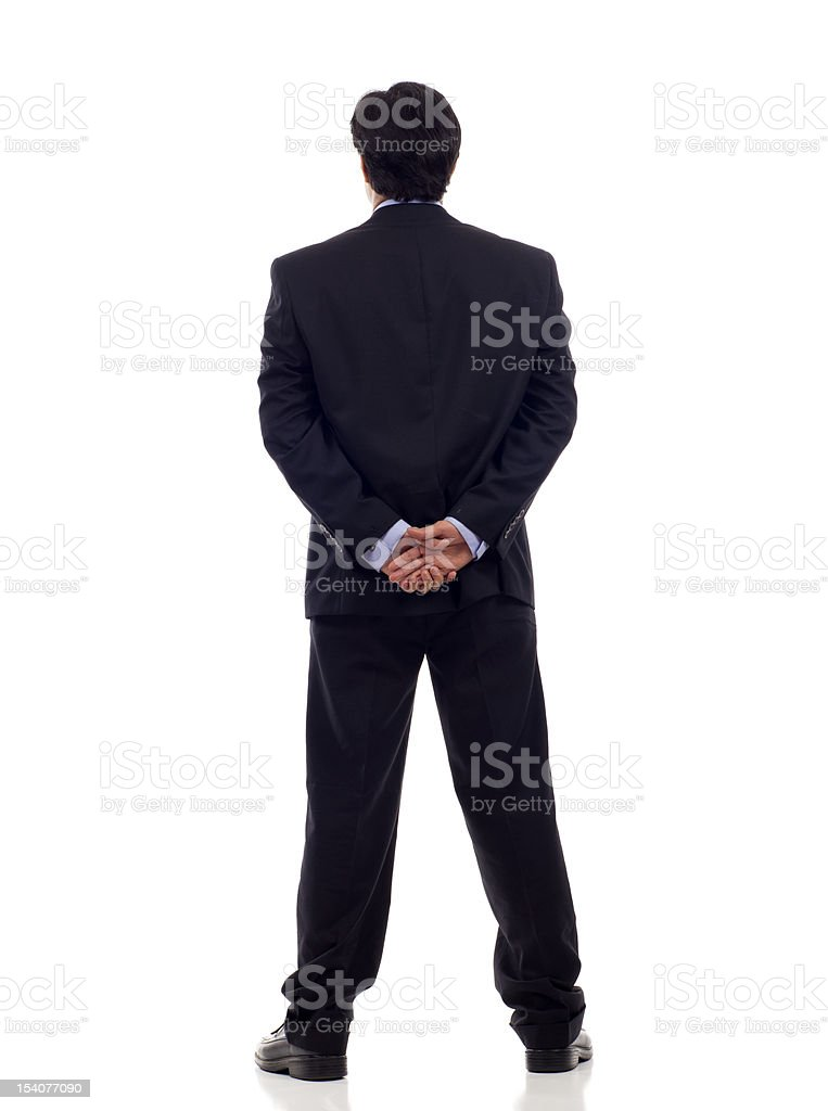 Back View Businessman royalty-free stock photo