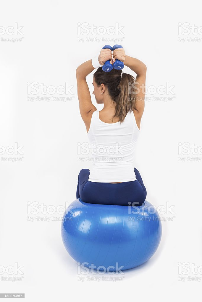 Back view of a female working out royalty-free stock photo