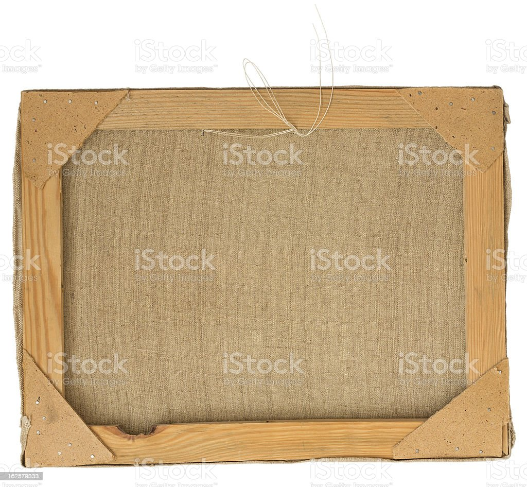 Back view of a picture frame. royalty-free stock photo