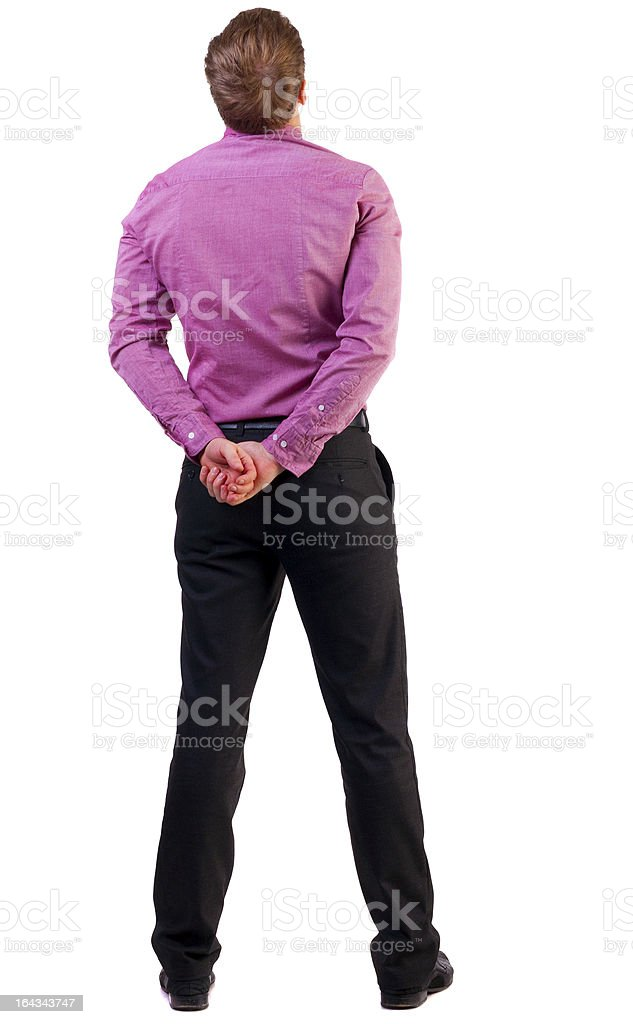 back view of Business man  looks ahead royalty-free stock photo
