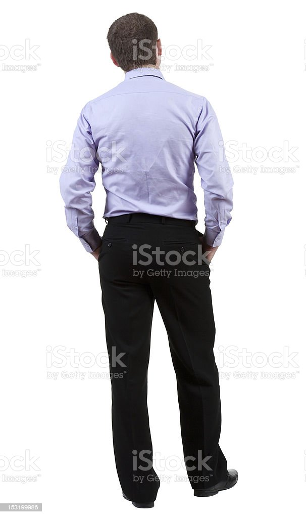 back view of Business man royalty-free stock photo