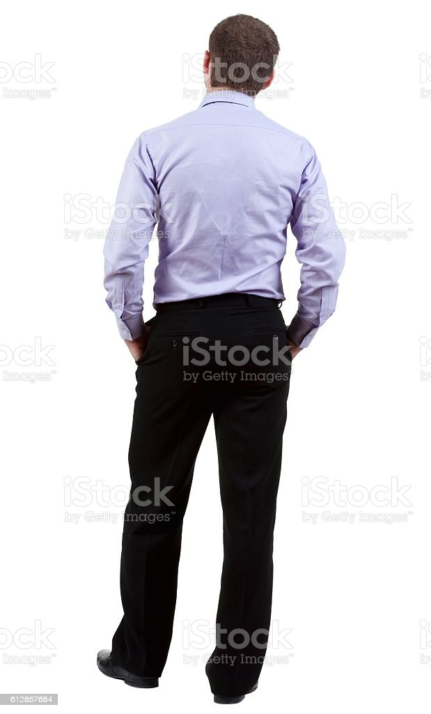 back view of Business man stock photo