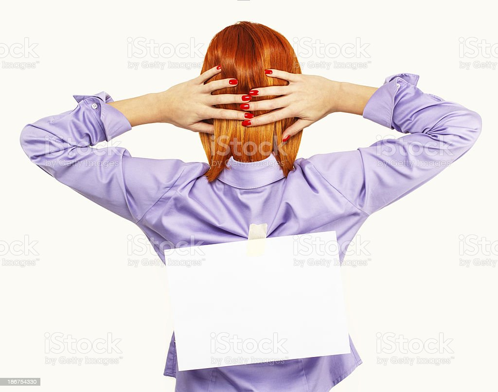 Back view of business woman royalty-free stock photo