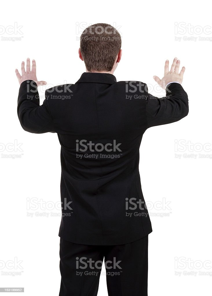 back view of Businessman royalty-free stock photo