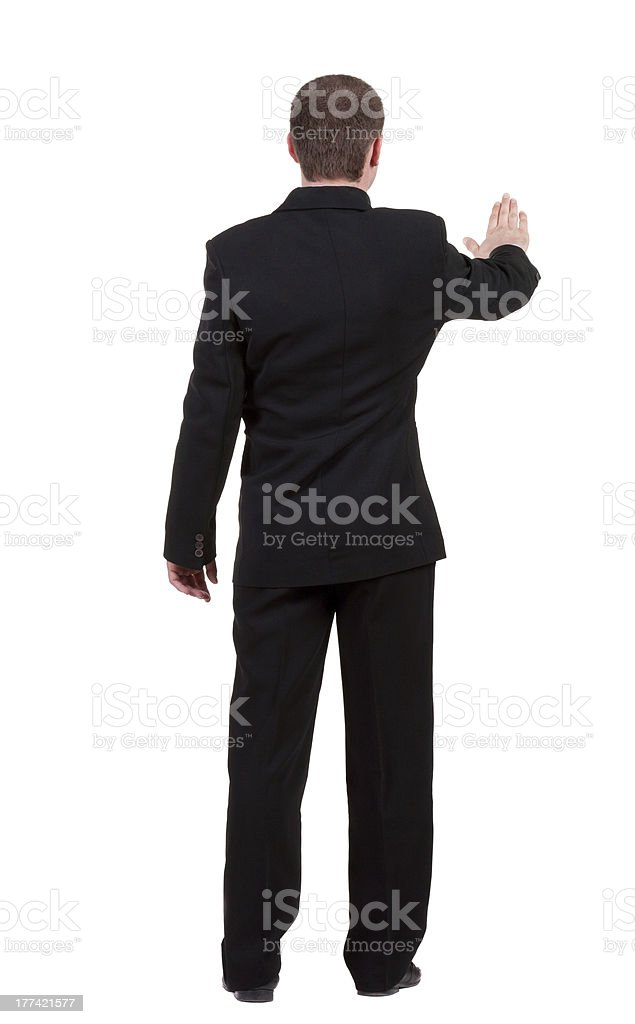 back view of Businessman . royalty-free stock photo