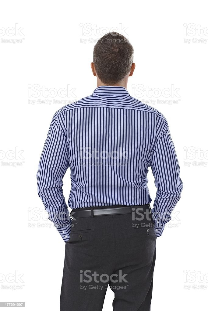 Back view of businessman stock photo