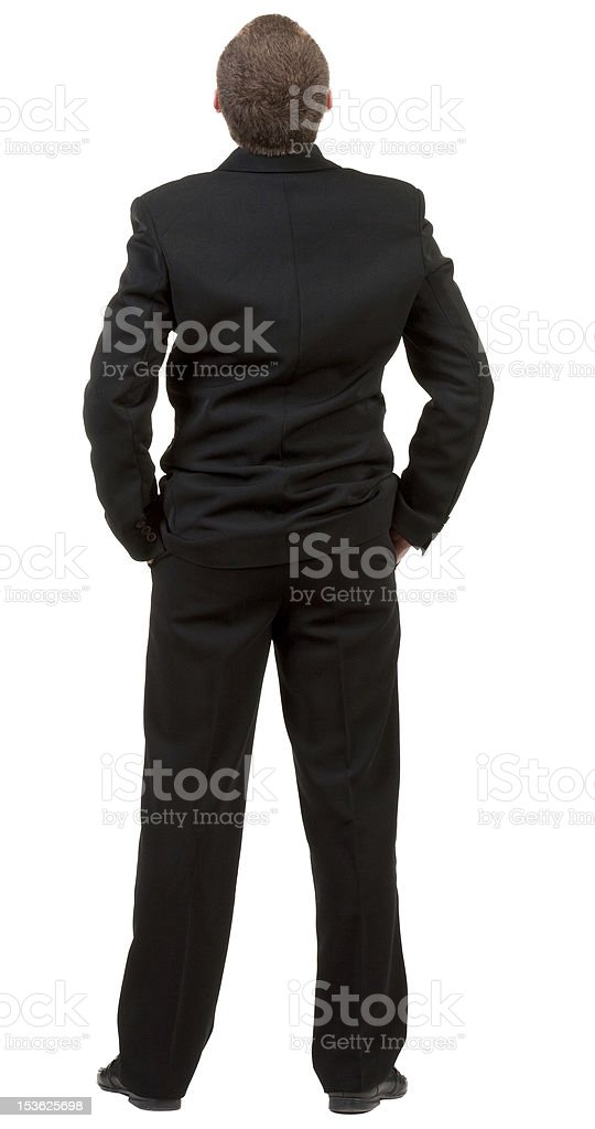 back view of Businessman watching royalty-free stock photo