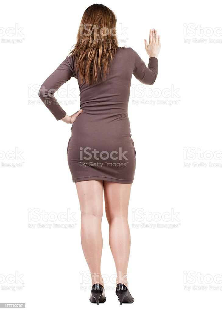 back view of Businesswoman . royalty-free stock photo